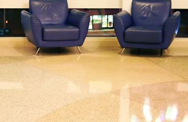 beautiful terrazzo floor