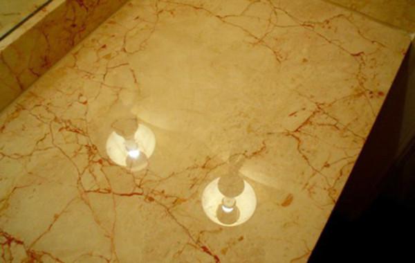 Damaged Marble Vanity Top Restored