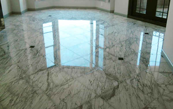 Marble Floor Polished and Restored