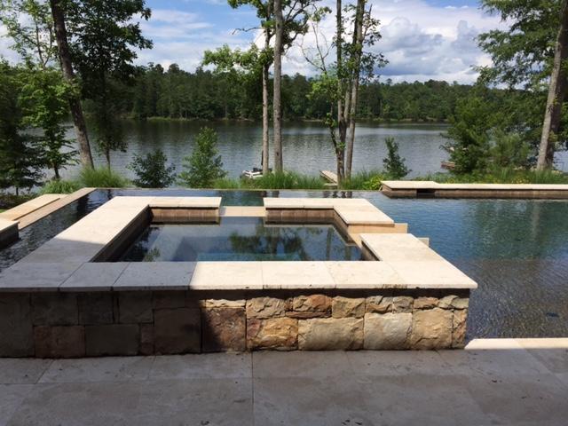 Portfolio Dirty Amp Damaged Travertine Pool Deck Restored