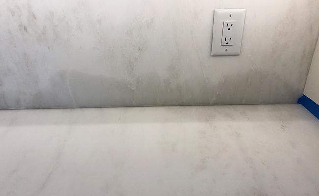 Marble Backsplash Stain